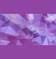 abstract irregular polygonal background lavender vector image vector image