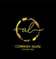 al initial handwriting colorful logo template vector image vector image