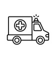 ambulance icon on withe vector image vector image