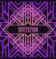 art deco vintage pattern in bright neon colors vector image vector image