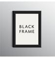 black 3d frame for A4 vector image