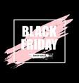 black friday sale horizontal banner vector image