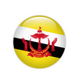 brunei flag on button vector image