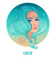 cancer astrological sign as a vector image vector image