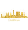casablanca morocco city skyline silhouette with vector image vector image