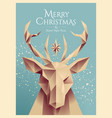 christmas poster or card or flyer design template vector image