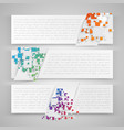 colorful templates for web and advertising vector image vector image