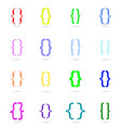 curly bracket icon colored set vector image vector image