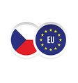 czech republic european union badge vector image