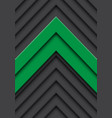 double green arrow gray pattern direction vector image vector image