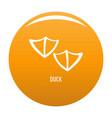 duck step icon orange vector image