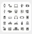 Electronic and gadget icons set vector image vector image