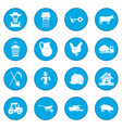 farm black icon blue vector image vector image