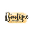 fashion boutique logo premium vector image