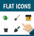 flat icon dacha set of shovel pail bailer and vector image vector image
