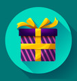 gift box icon flat vector image vector image