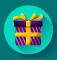 gift box icon flat vector image