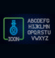 glowing neon musical instrument lute icon isolated