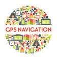 gps navigation and maps location and cartography vector image vector image