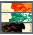 Hairstyle horizontal banners vector image vector image