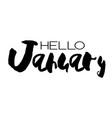 hand drawn lettering element months set vector image vector image