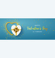 happy valentines day horizontal banner vector image vector image
