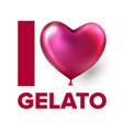 i love gelato ice cream social media poster vector image