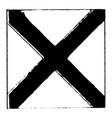 international code flag for letter v vintage vector image vector image