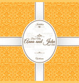 invitation card with yellow arabic pattern vector image vector image
