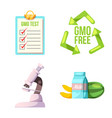 isolated object of genetic and plant logo vector image
