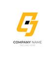 letter c j logo vector image vector image