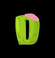 letter d zombie font monster alphabet bones vector image vector image
