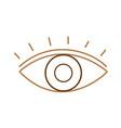 line human eye vision with eyelashes design vector image vector image