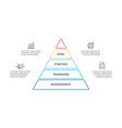 linear pyramid infographic with 4 options vector image vector image