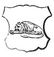 lion dormant are the french word for sleeping vector image vector image