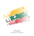 lithuania flag with halftone effect vector image vector image