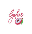 logo sweet lychee with hand drawn linear vector image vector image