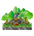 many elves in the forest vector image vector image