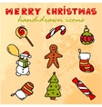 merry christmas icons vector image vector image