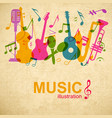 musical graphic poster vector image vector image