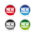 new product sticker speech bubble vector image vector image