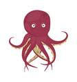 octopus tentacles sea animal isolated on vector image