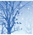 Panorama of wild coniferous winter forest vector image vector image