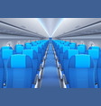 plane or airplane cabin interior with seats vector image