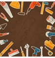 Repair and construction with working tools icons vector image
