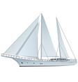 sailing yach vector image vector image
