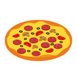 salami and mushroom pizza for restaurants or vector image