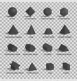 set 3d figures on transparent background vector image vector image