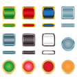 set glossy buttons vector image