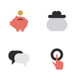 set of simple trade icons elements moneybox wallet vector image vector image